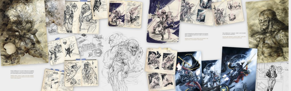 L'un des sketchbook de Worlds & Wonders