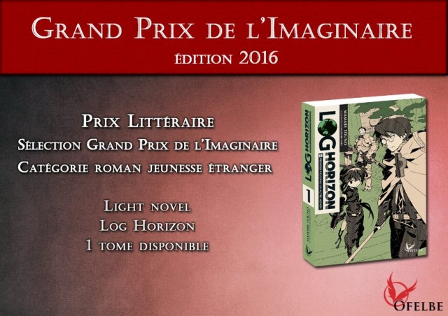 Log Horizon Grand Prix de l'Imaginaire